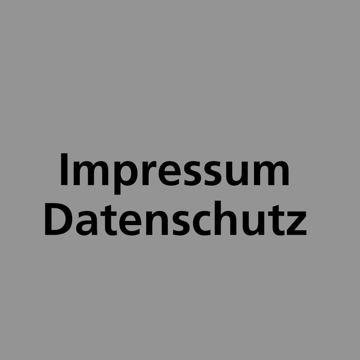 Bild: Kachel «Impressum und Datenschutz»